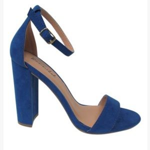 Blue Ankle Strap Heel Size 5.5 WORN ONCE